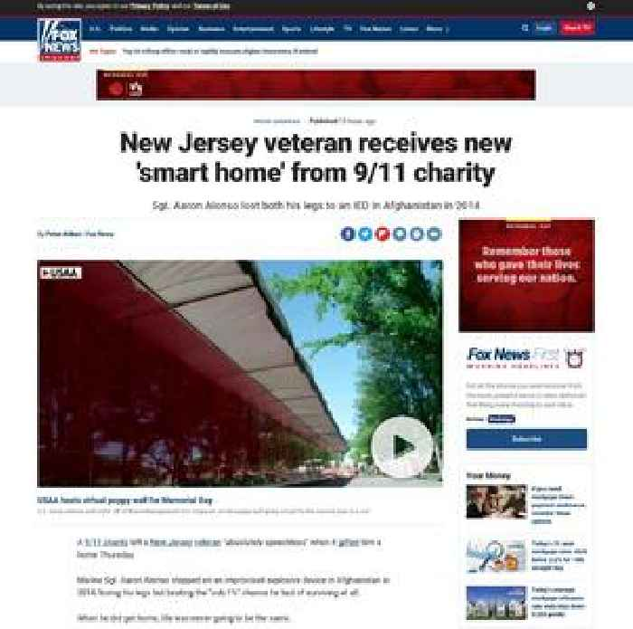 New Jersey veteran receives new 'smart home' from 9/11 charity