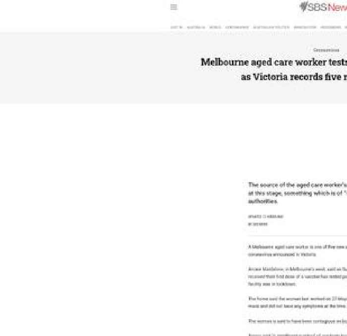 Aged care worker among five new local coronavirus cases in Victoria