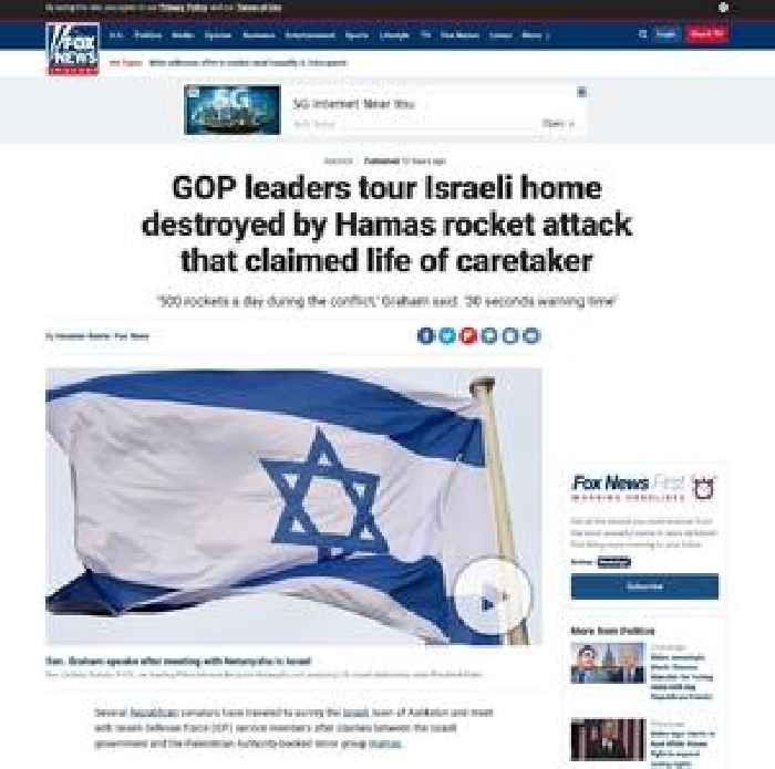 GOP leaders tour Israeli home destroyed by Hamas rocket attack that claimed life of caretaker