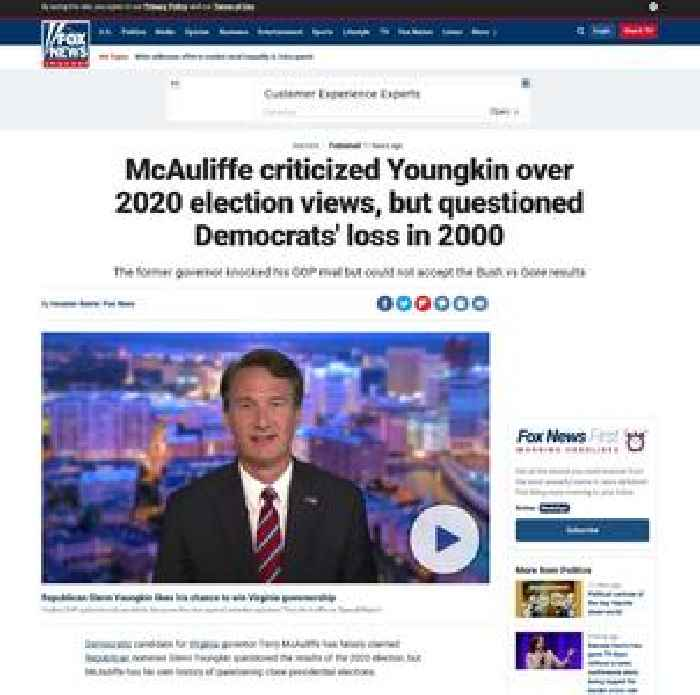 McAuliffe criticized Youngkin over 2020 election views, but questioned Democrats' loss in 2000