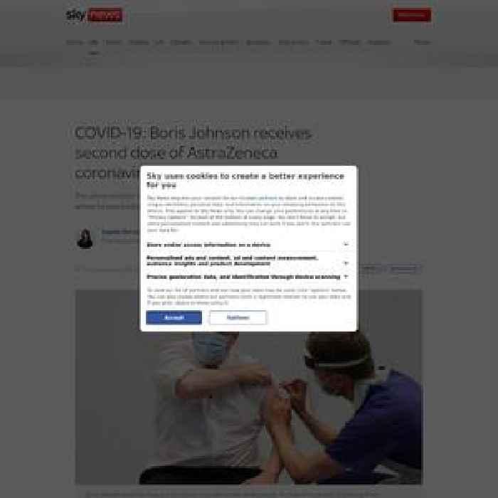 Boris Johnson receives second dose of AstraZeneca COVID vaccine