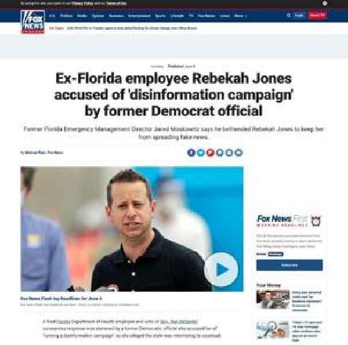 Ex-Florida employee Rebekah Jones accused of 'disinformation campaign' by former Democrat official