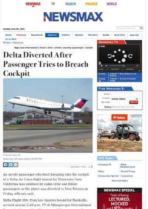Delta Diverted After Passenger Tries to Breach Cockpit