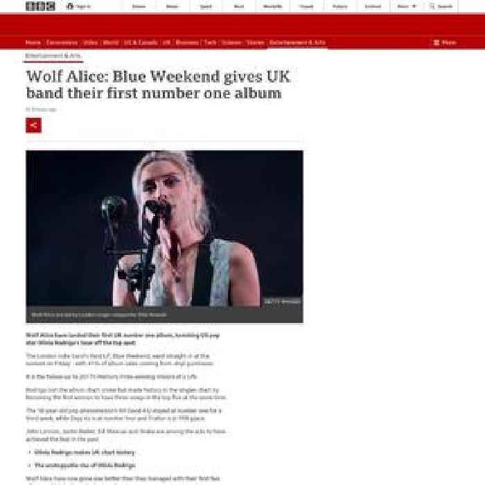 Wolf Alice: Blue Weekend gives UK band their first number one album