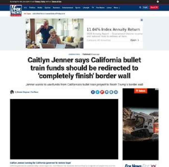 Caitlyn Jenner says California bullet train funds should be redirected to 'completely finish' border wall