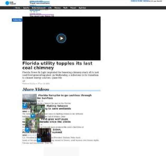 Florida utility topples its last coal chimney