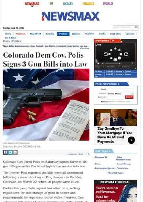 Colorado Dem Gov. Polis Signs 3 Gun Bills into Law