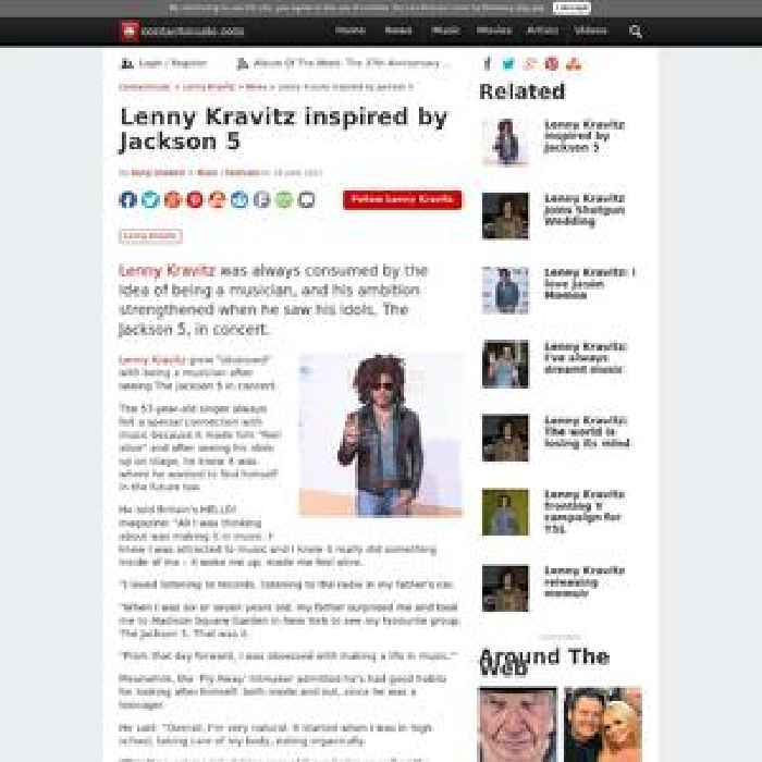 Lenny Kravitz inspired by Jackson 5