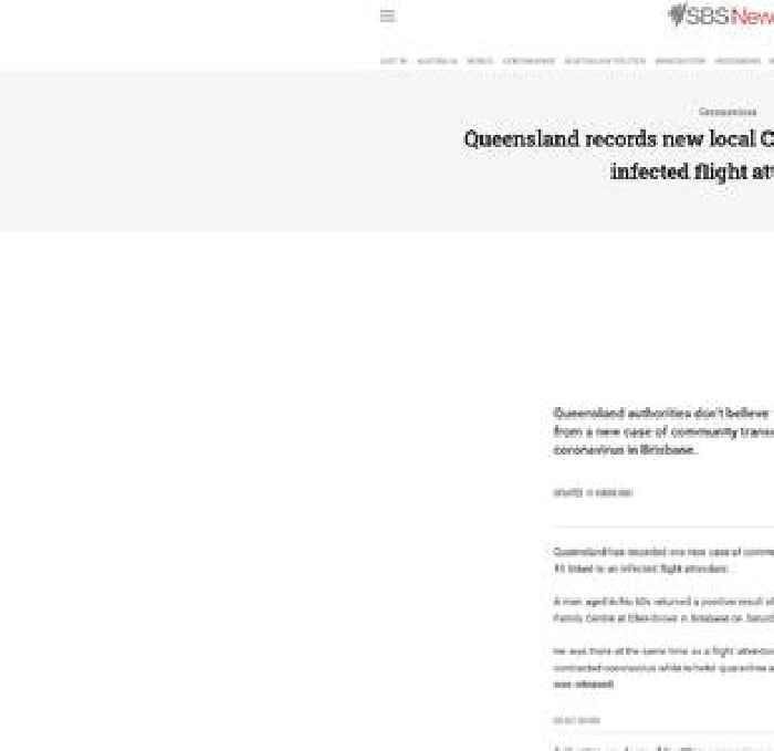 Queensland records new local COVID-19 case linked to infected flight attendant