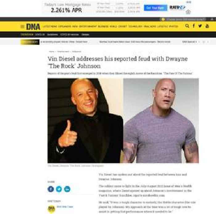 Vin Diesel addresses his reported feud with Dwayne 'The Rock' Johnson