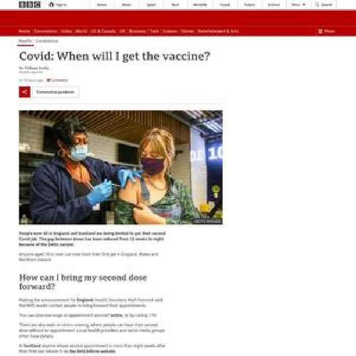 Covid: When will I get the vaccine?