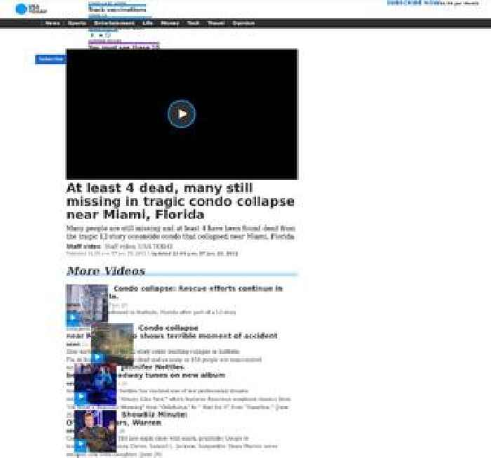 At least 4 dead, many still missing in tragic condo collapse near Miami, Florida