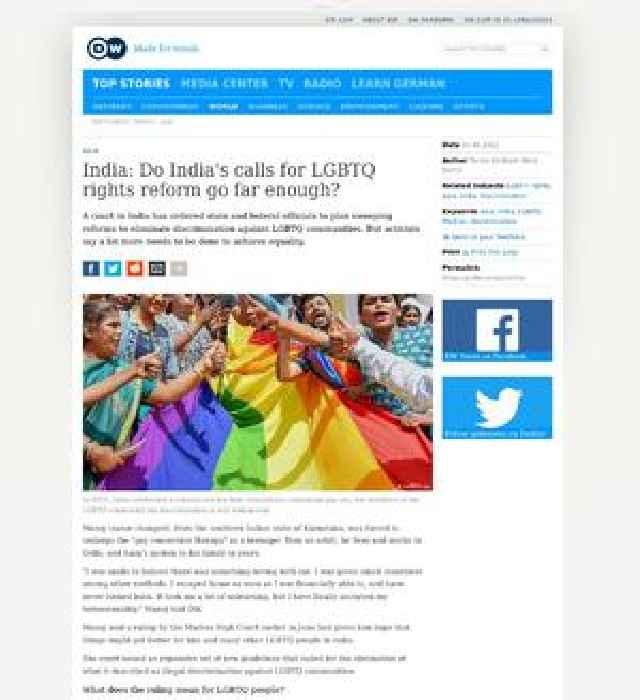 India: Do India's calls for LGBTQ rights reform go far enough?