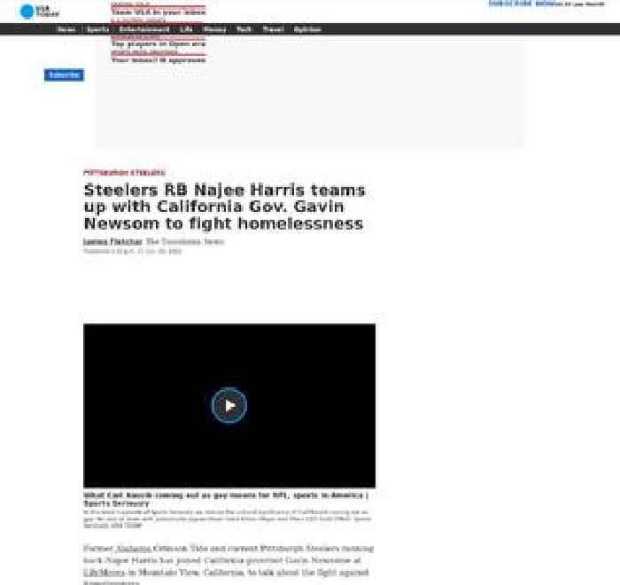Steelers RB Najee Harris teams up with California Gov. Gavin Newsom to fight homelessness