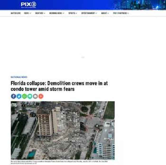Florida collapse: Demolition crews move in at condo tower amid storm fears
