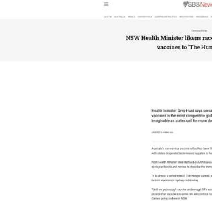 NSW Health Minister likens race to secure COVID-19 vaccines to 'The Hunger Games'