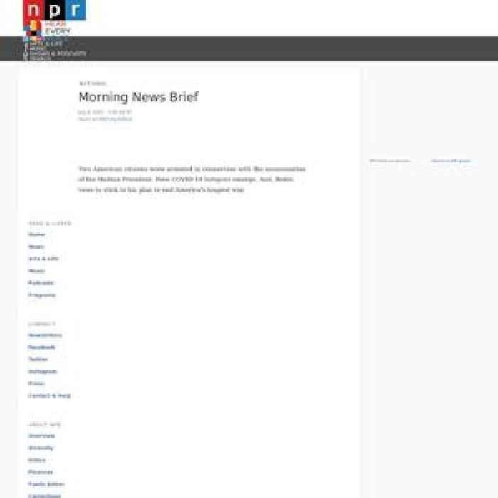 Morning News Brief