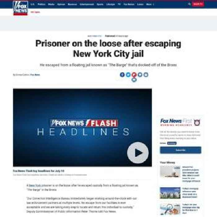 Prisoner on the loose after escaping New York City jail