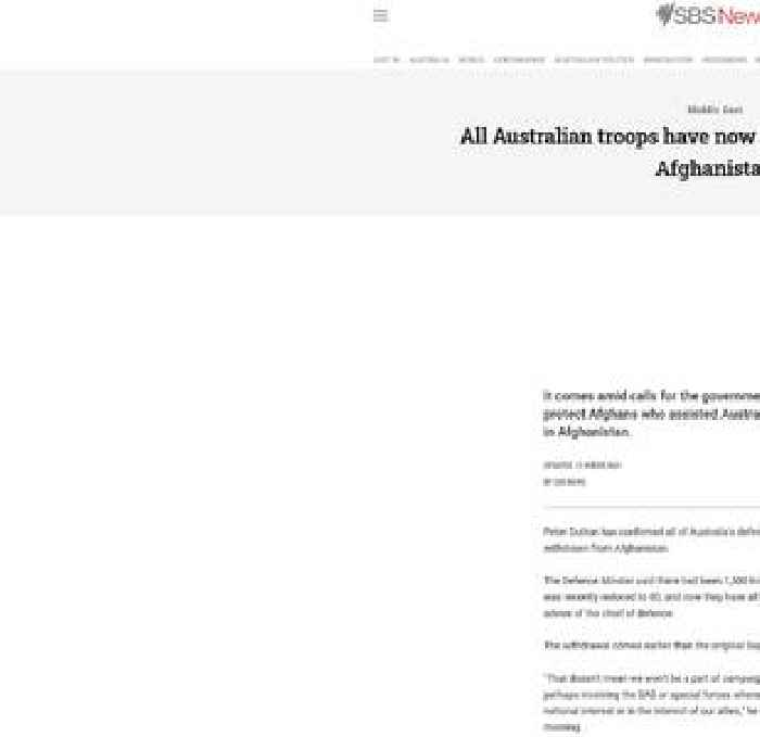 All Australian troops have now been withdrawn from Afghanistan