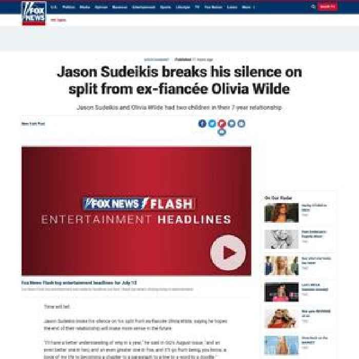 Jason Sudeikis breaks his silence on split from ex-fiancée Olivia Wilde