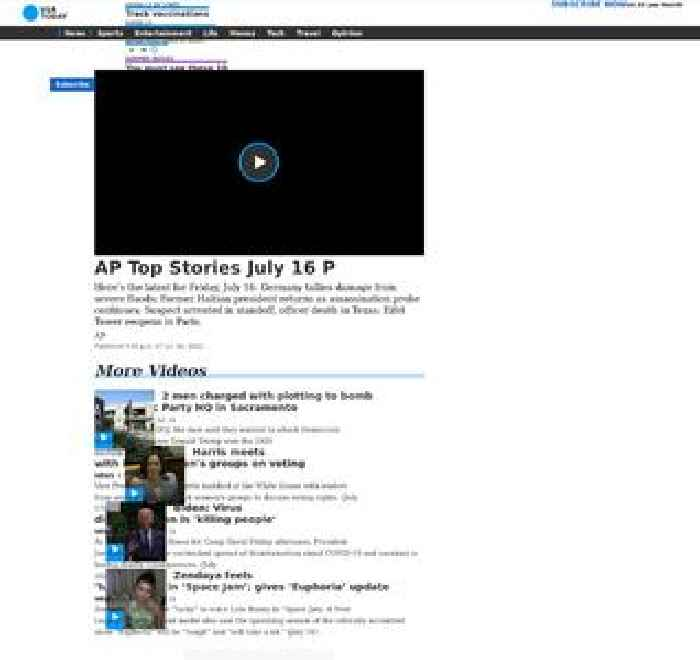 AP Top Stories July 16 P