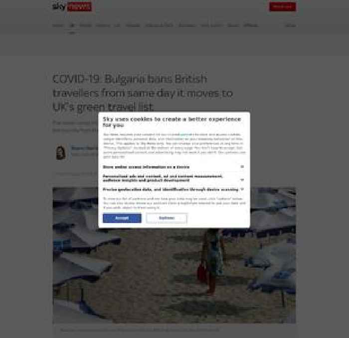 Bulgaria bans UK travellers over COVID concerns