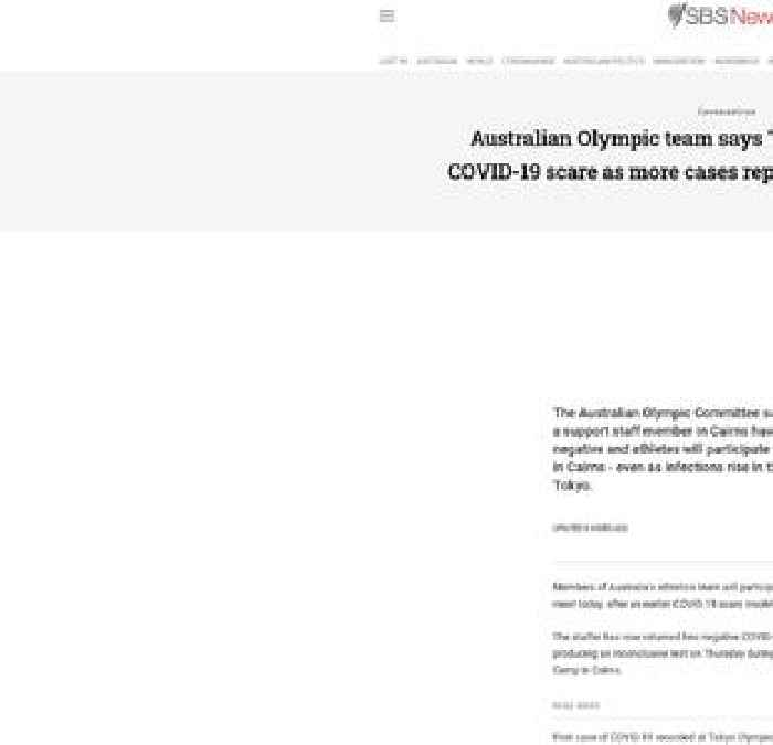 First coronavirus case at Olympic Games athletes' village as first Australian team members arrive in Tokyo