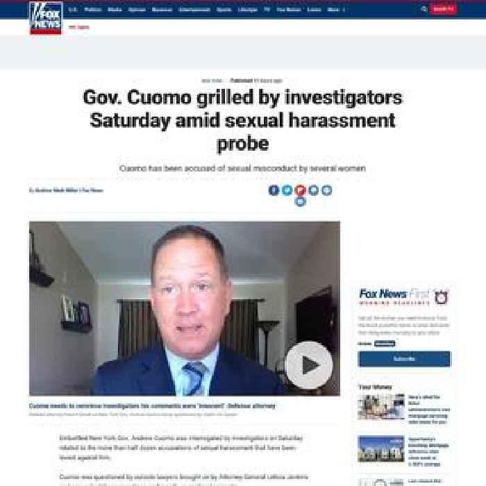 Gov. Cuomo grilled by investigators Saturday amid sexual harassment probe