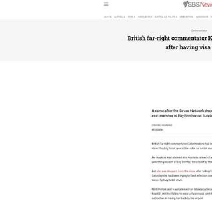 British far-right commentator Katie Hopkins deported after having visa revoked