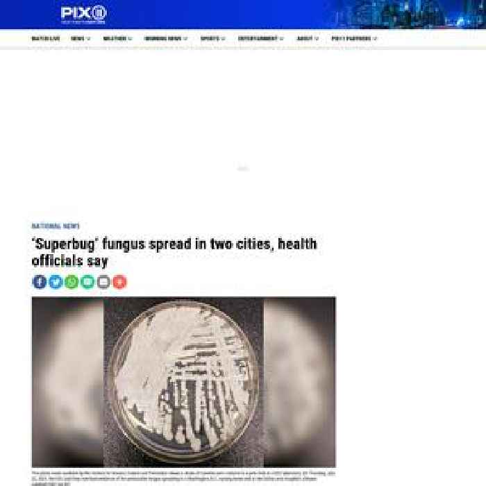 'Superbug' fungus spread in two cities, health officials say