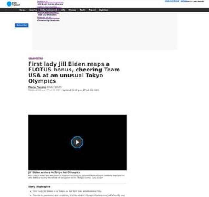 First lady Jill Biden reaps a FLOTUS bonus, cheering Team USA at an unusual Tokyo Olympics