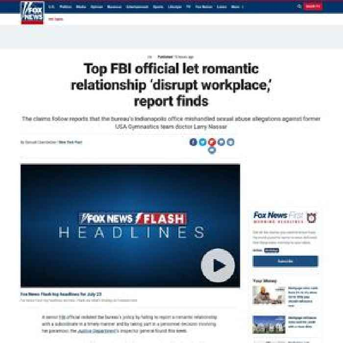 Top FBI official let romantic relationship 'disrupt workplace,' report finds