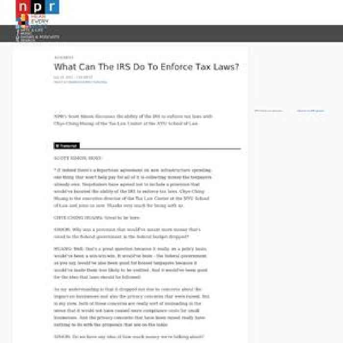 What Can The IRS Do To Enforce Tax Laws?