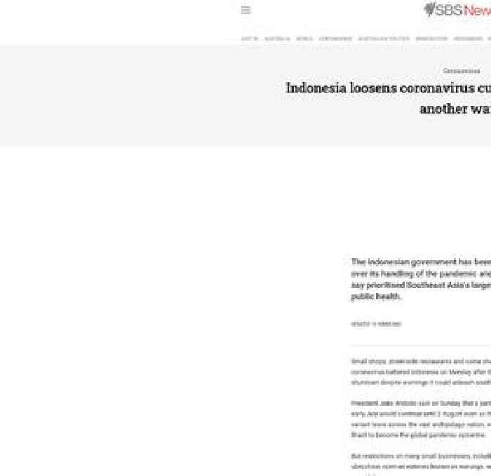 Indonesia loosens coronavirus curbs despite warnings of another wave