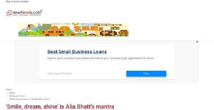 'Smile, dream, shine' is Alia Bhatt's mantra