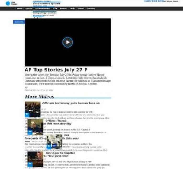 AP Top Stories July 27 P