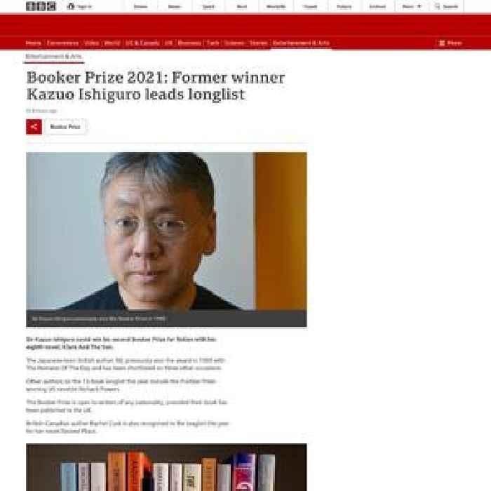 Booker Prize 2021: Former winner Kazuo Ishiguro leads longlist