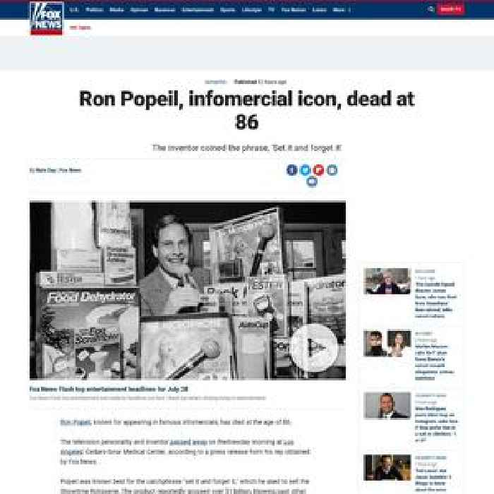 Ron Popeil, infomercial icon, dead at 86