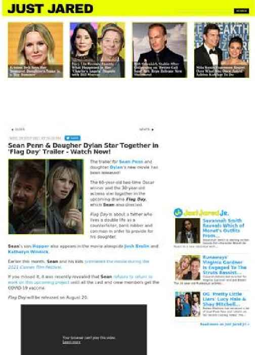 Sean Penn & Daugher Dylan Star Together in 'Flag Day' Trailer - Watch Now!