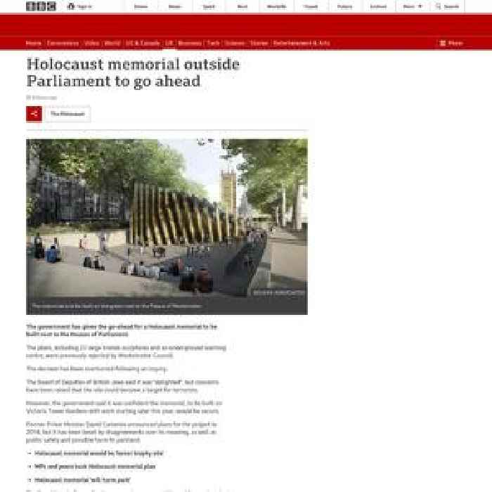 Westminster Holocaust memorial given go-ahead by Robert Jenrick