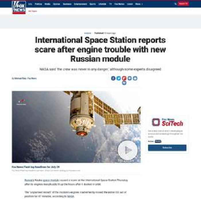 International Space Station reports scare after engine trouble with new Russian module
