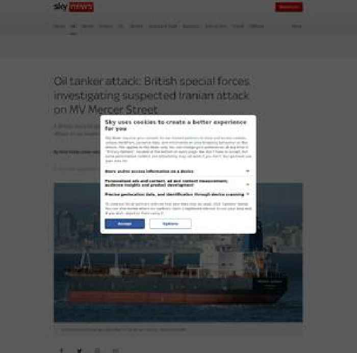 British special forces investigating suspected Iranian oil tanker drone attack