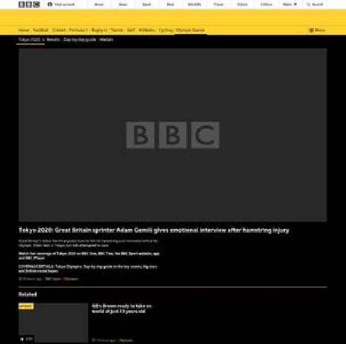 Tokyo 2020: Great Britain sprinter Adam Gemili gives emotional interview after hamstring injury