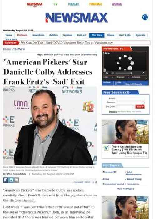 'American Pickers' Star Danielle Colby Addresses Frank Fritz's 'Sad' Exit