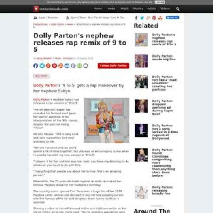 Dolly Parton's nephew releases rap remix of 9 to 5