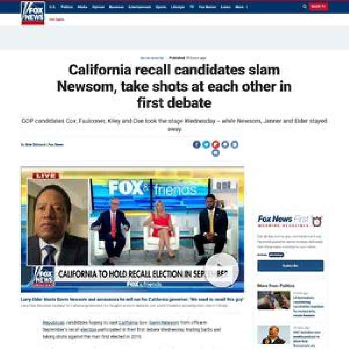 California recall candidates slam Newsom, take shots at each other in first debate