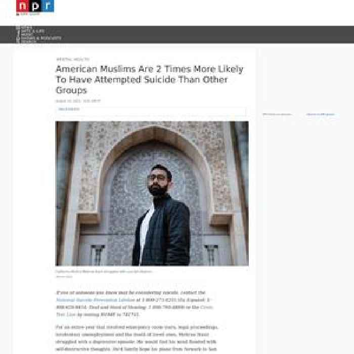 American Muslims Are 2 Times More Likely To Have Attempted Suicide Than Other Groups