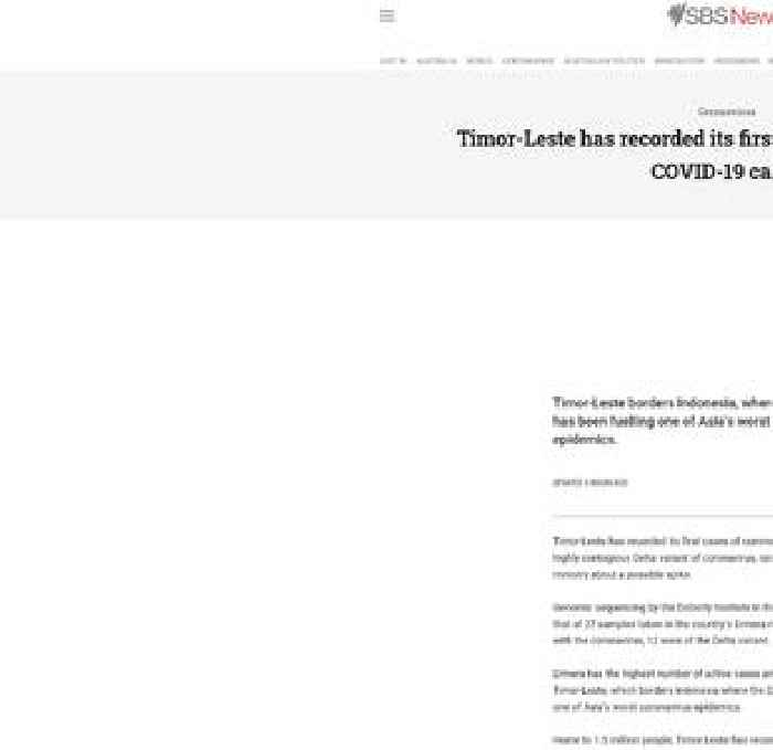 Timor-Leste has recorded its first locally-acquired Delta COVID-19 cases