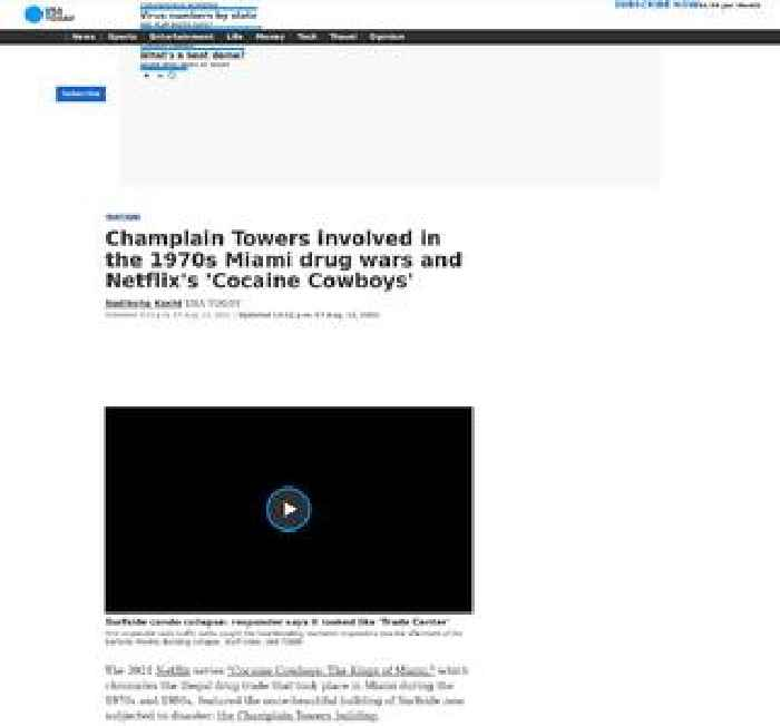 Champlain Towers involved in the 1970s Miami drug wars and 'Cocaine Cowboys'