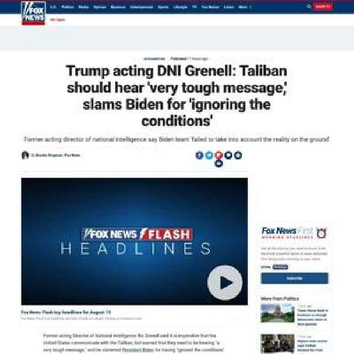 Trump acting DNI Grenell: Taliban should hear 'very tough message,' slams Biden for 'ignoring the conditions'